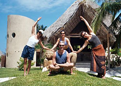 Tom McCook and group at Maya Tulum Retreat 2004