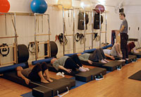 Owen teaching Pilates workshop
